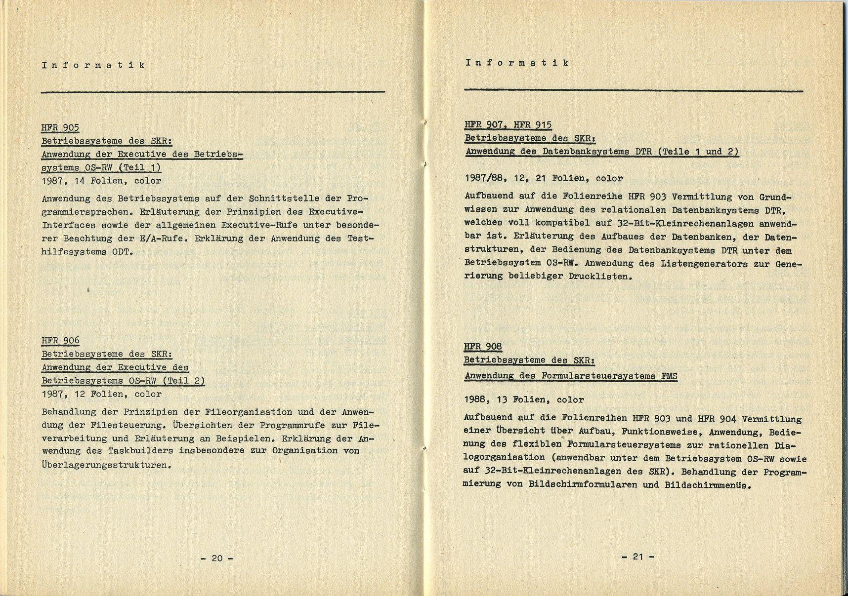IFBT - Katalog - Informatik