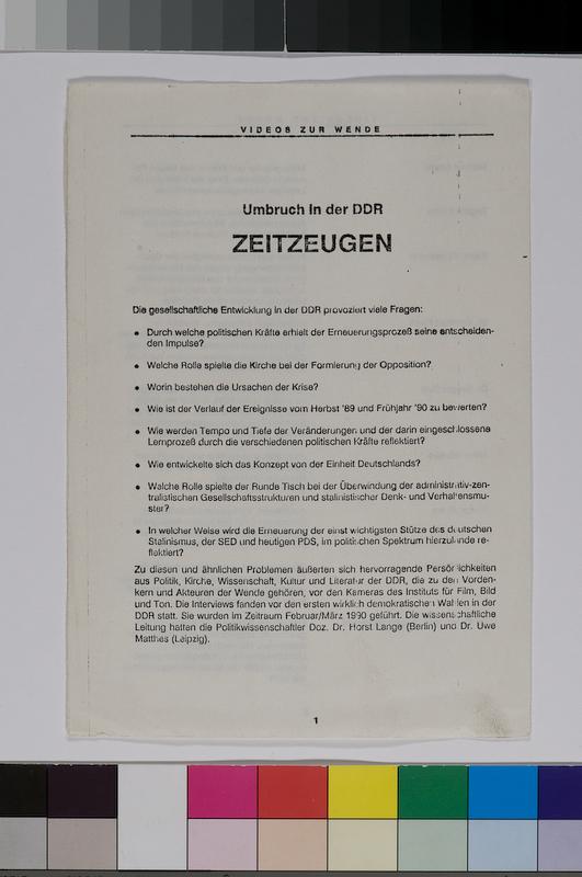 gedrucktes Informationsblatt